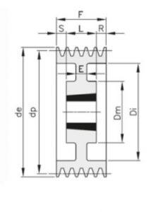 klinovoj shkiv spa 238x300 - Шкивы клиновые - BEA INGRANAGGI