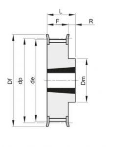 pod vtulku 231x300 - Шкивы зубчатые — MEGADYNE, BEA INGRANAGGI под втулку