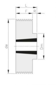 poliklinovye 196x300 - Шкивы поликлиновые - BEA INGRANAGGI